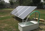 Solar Rain Barrel Watering System